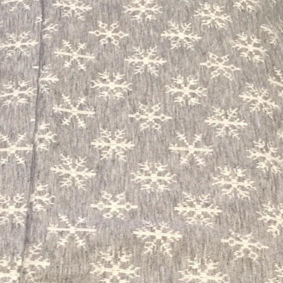 3D Schneeflocken Jersey Hellgrau