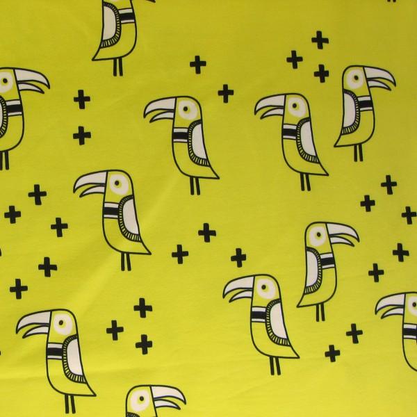 Hamburger Liebe Mono Bird JERSEY 2 Gelb Weiß Schwarz