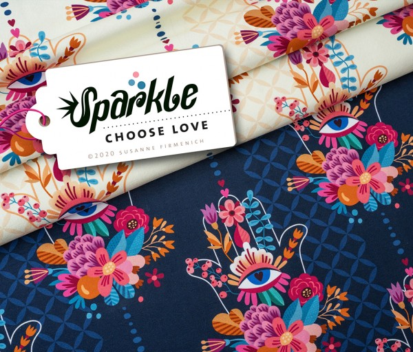 Sparkle Choose Love Beige Jersey