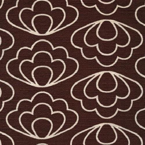 Time Warp Ripple Brown - Barkcloth