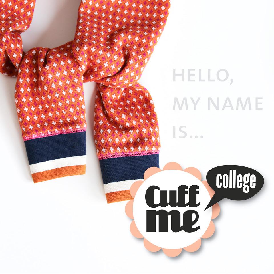 Cuff Me College Bündchen Grau gestreift Albstoffe Hamburger Liebe Biobündchen