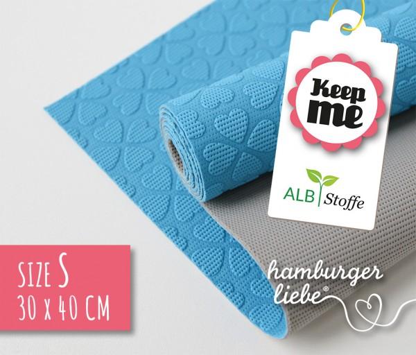 Keep Me S 30x40cm Blau Grau Albstoffe