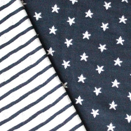 Sternenliebe Doubleface Jersey Blau
