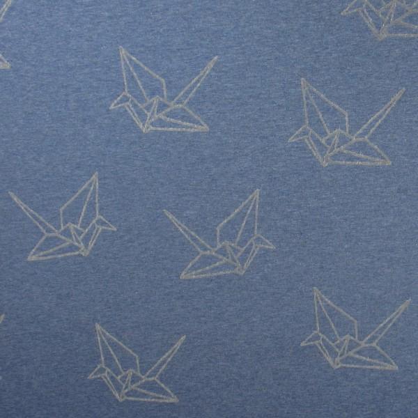 Hamburger Liebe Mono Oregami Flock Print 6 Jeans Blau Grau